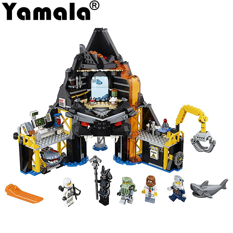 [Yamala]Ninjago Movie Series Garmadon's Volcano Lair Models & Building Blocks Toys Children Compatible with legoingly Ninjagoes compatible with lego ninjagoes 70596 06039 blocks ninjago figure samurai x cave chaos toys for children building blocks