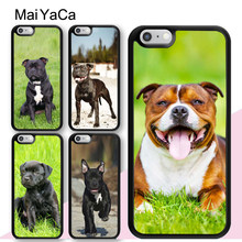 MaiYaCa Staffordshire Bull Terrier Staffy Dog Mobile Phone Cases For iPhone 6 6S 7 8 Plus XS Max XR 5S SE Soft TPU Back Cover(China)