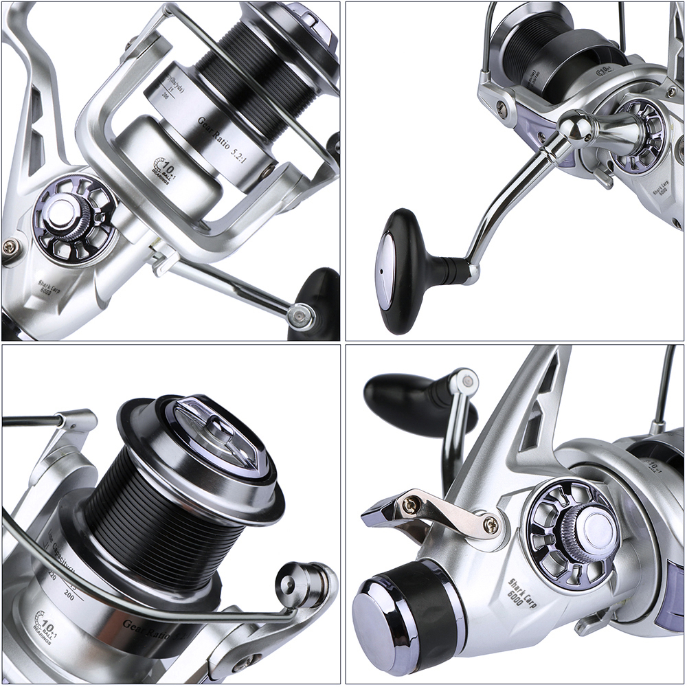 Goture Metal Spool Fishing Reel Spinning Reel Coils 11BB Double Drag - Visvangst - Foto 4