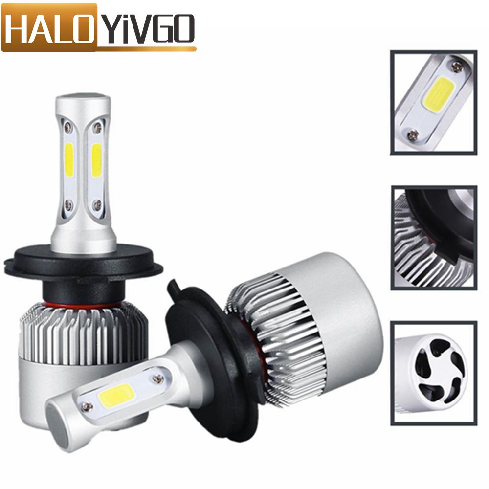 Car LED Headlight H4 H7 H13 H11 H1 9005 9006 LED Bulb 6500K 72W 8000LM Car LED Headlights Auto Head Lamp Fog Light Bulbs 12V 24V 2x led car headlight h4 led headlight bulbs for cree chips h4 h7 h11 12v 80w 8000lm led automobiles head lamp front light