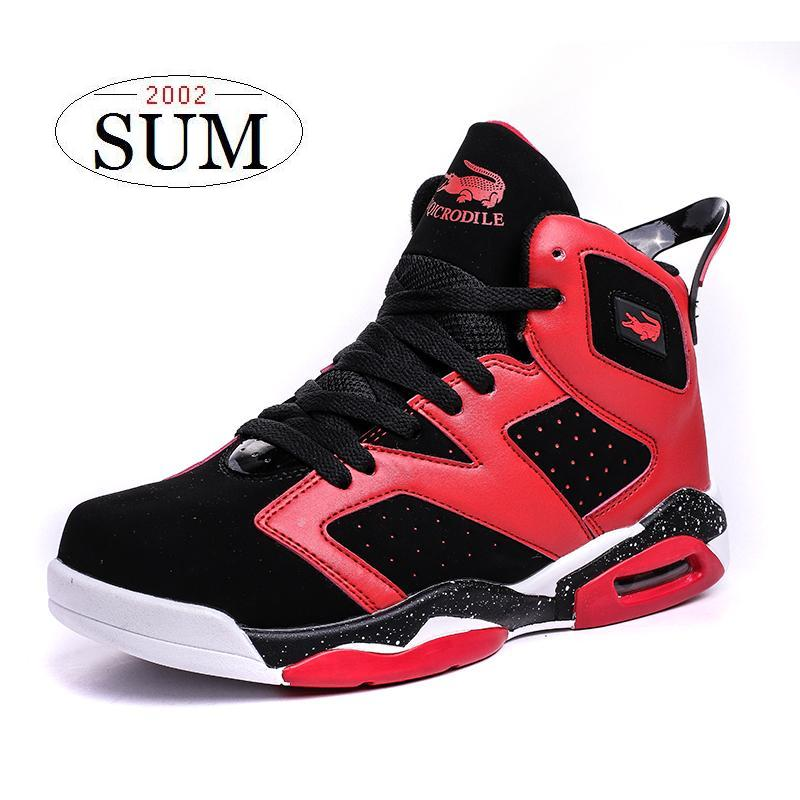 Good design plus size men basketball shoes pu leather ...