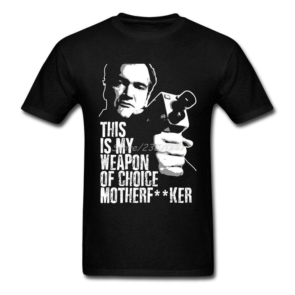 quentin-font-b-tarantino-b-font-weapon-of-choice-t-shirt-o-neck-cotton-custom-short-sleeve-t-shirts-for-men-2018-new-3xl-funny-t-shirts