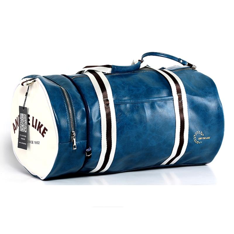 PU Barrel Unisex Gym Bag Фитнес жаттығу тәуелсіз - Спорттық сөмкелер - фото 2