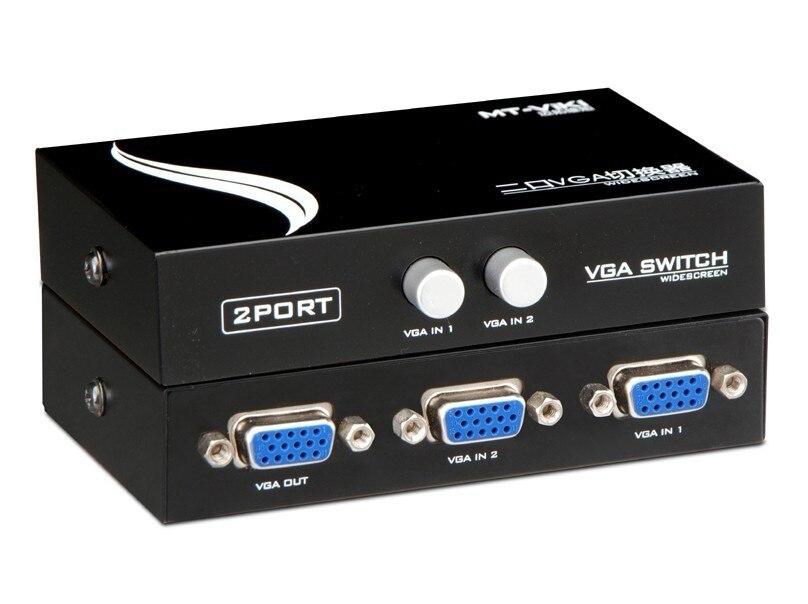 Computer-peripheriegeräte 2 Port Mini Vga Switcher Manuelle Vga-schalter Zwei Hosts Teilen Einem Monitor Pc Video-sharing Kvm Controller Den Speichel Auffrischen Und Bereichern