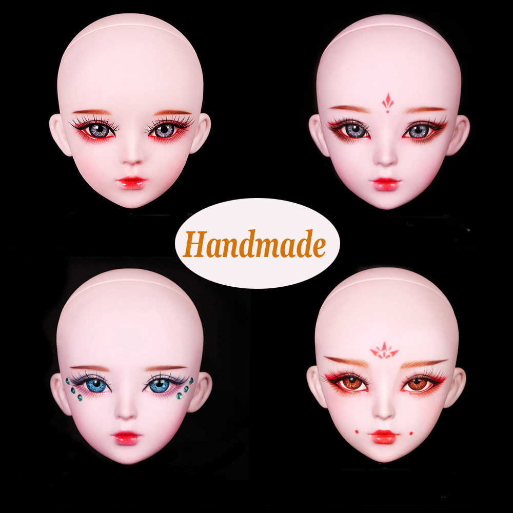 Handmade Make-up 3d Eye Bjd Doll Head for Bjd 1/3 Dolls Original Girls Heads for 1/3 Doll Girl Toys Dolls Accessories цена