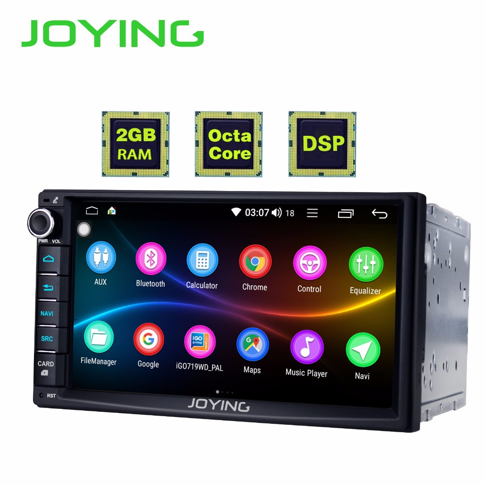 JOYING 7 inch 2 Din Touch Screen Bluetooth Universal 7851 GPS Car Radio Player Android 8.1 head unit USB/SD/AUX/FM/AM stereo DSP