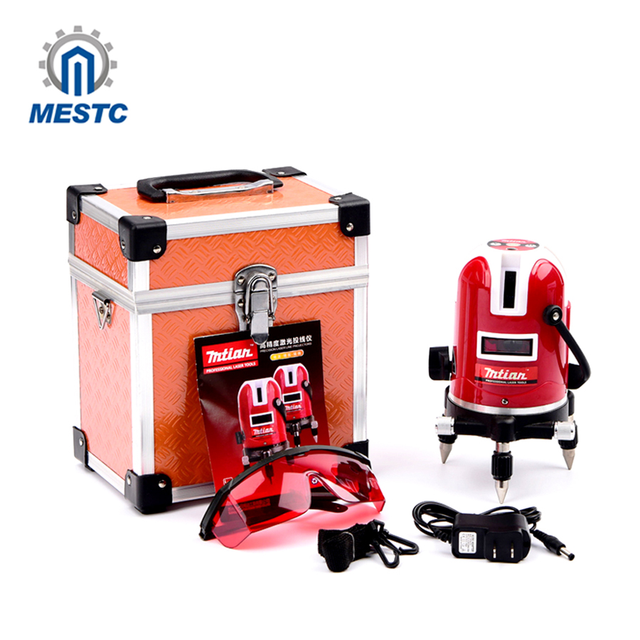 Mtian, 5 lines 6 points laser level Tilt Function 360 rotary Self Lleveling cross laser line leveling outdoor model tools цена