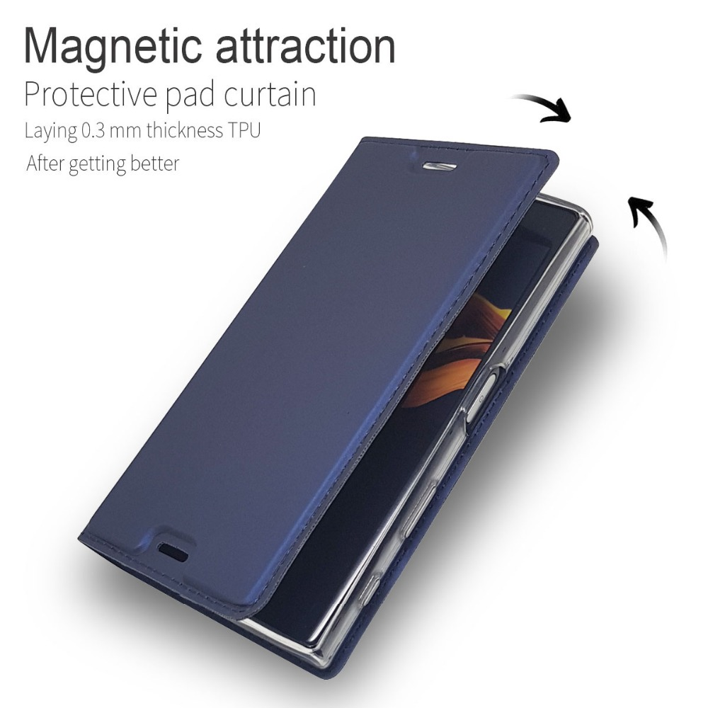 check out a4976 00c88 Phone Bags Wallet Case For Sony Xperia X Compact F5321 Luxury Magnetic Flip  Slim Genuine Leather Cover For Sony X Compact