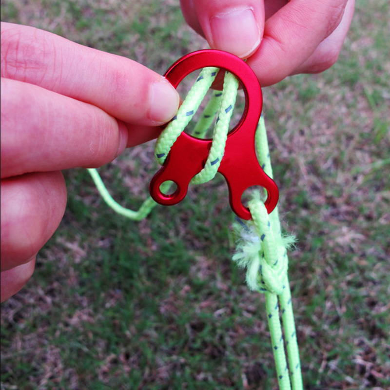 10 Pcs Tent Guyline Guide Rope Cord Adjusters Outdoor Camping Equipment Accessories