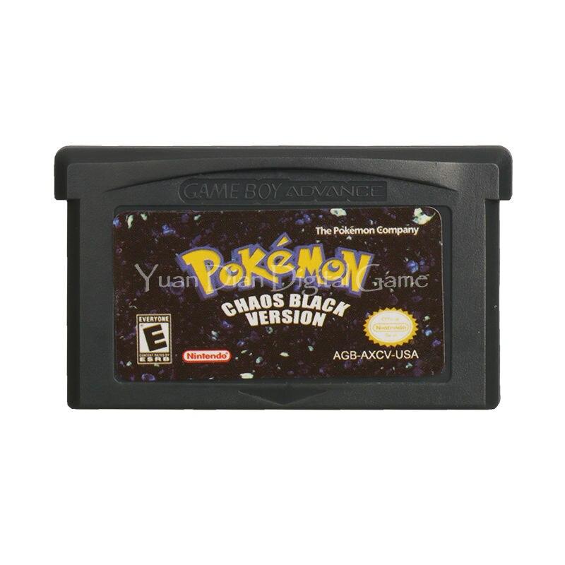 Nintendo gba video spiel patrone konsole karte pokemon serie chaos schwarz englisch...