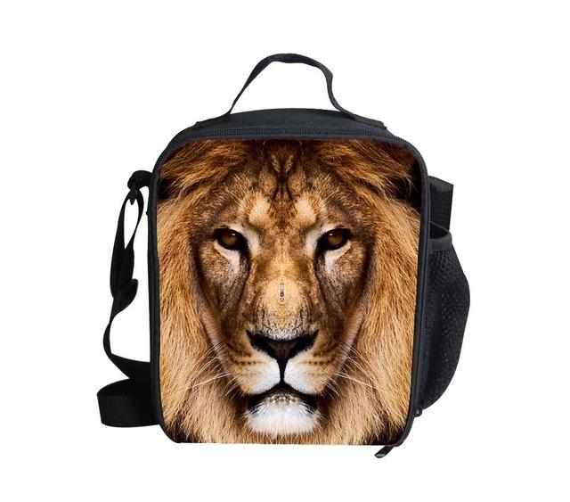 FORUDESIGNS 3d impreso animal caja de regalos de los niños bolsas de hombro bolsas niños bolsa de almuerzo térmica impermeable bolsas de almuerzo del Aislamiento