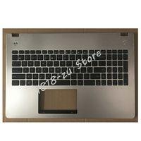 YALUZU New English Keyboard For Asus N56 N56V N56VM N56VZ N56SL with C shell Topcase Housing Palmrest US Top Cover upper case