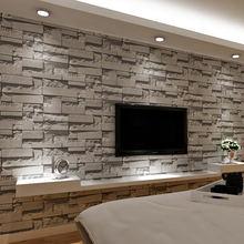 3D Mauer Stein Tapete Moderne Vintage Wohnzimmer TV Sofa Hintergrund  Wandverkleidung Gray Brick Tapeten Papel De