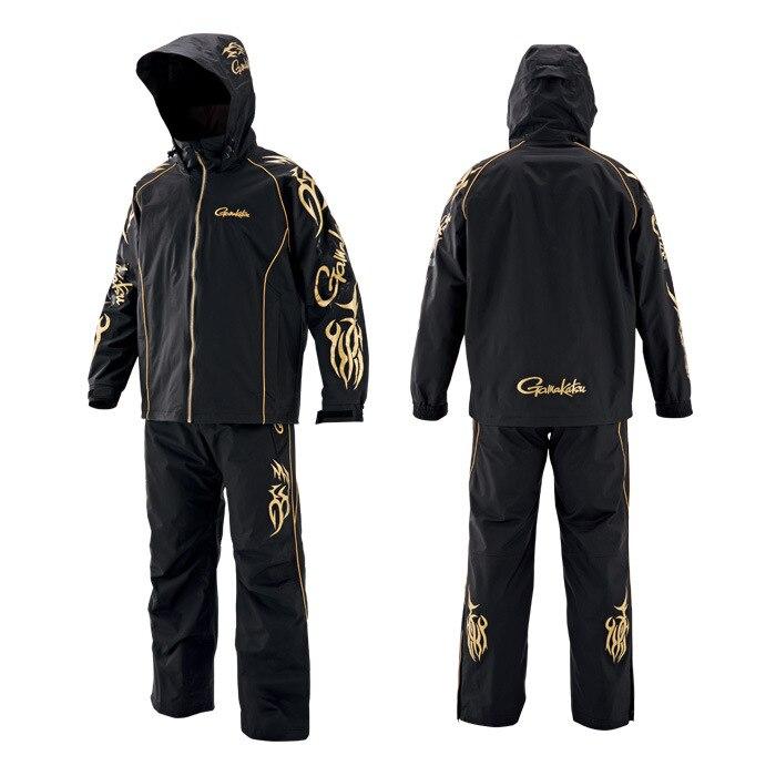 2019 nuevo Gamakatsu resistente al viento ropa de pesca impermeable chaqueta de pesca y pantalones al aire libre deportes camisas de pesca hombres traje de pesca
