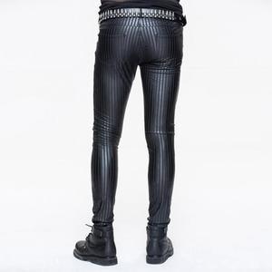 Image 2 - Devil Модные мужские обтягивающие панковские брюки в полоску PT045