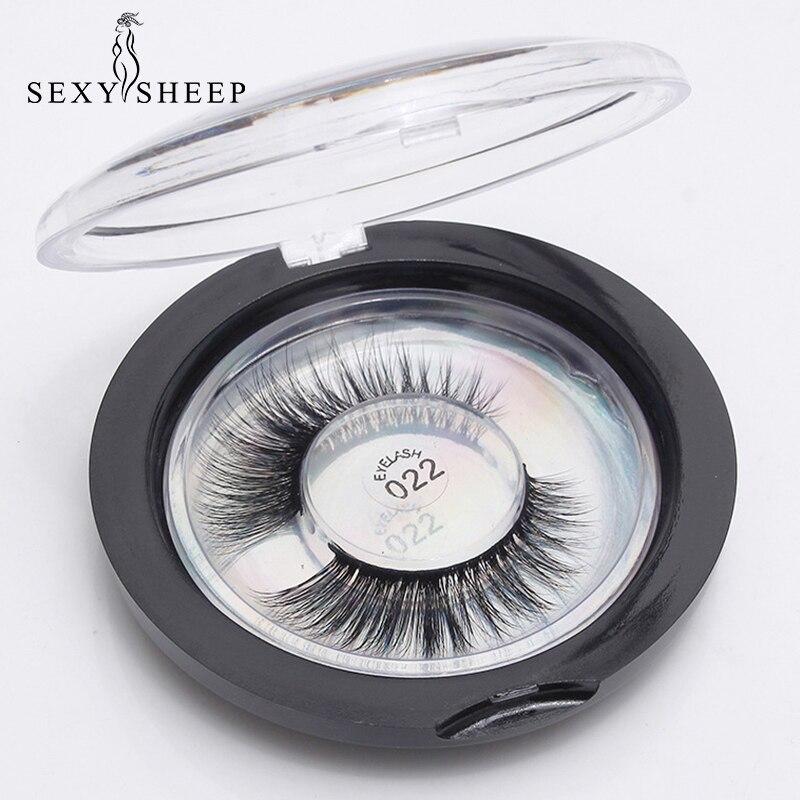 SEXYSHEEP Eyelashes 3D Mink Lashes Thick HandMade Full Strip Lashes Cruelty Free Mink Lashes False Eyelashes Makeup Eyelash