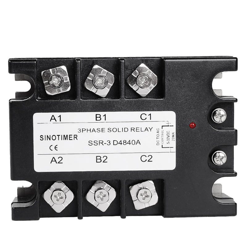 цена на D4840A 3 Phase Solid State Relay SSR 40A DC-AC 30-480V AC Output Module Switch Relay relais