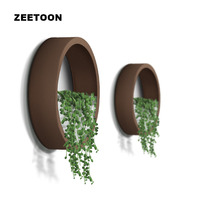 Nordic brief Round Iron Succulent Plant Wall Vase Glass Potted Flower Pot Ornaments Pendant Wall Decor Hanging Planter Flowerpot