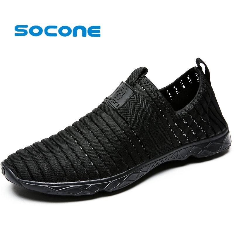 Prix pour Socone Hommes Aqua L'eau Shoes Shoes Pour Hommes Léger Formation de Marche En Plein Air Sneakers Respirant zapatillas deportivas hombre