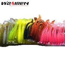 10 Unidades/pacote 0.7g 5 cm para Verme Pesca Cabeça de Jig Atração da Mosca Isca De Pesca Macio Isca De Pesca Swimbait YR-200