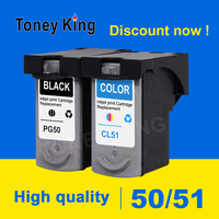 Toney King PG50 Ink Cartridge PG 50 CL51 CL 51 for canon IP2200 IP2400 MP150 MP160 MP170 MP180 MP450 MP460 Printer cartridges