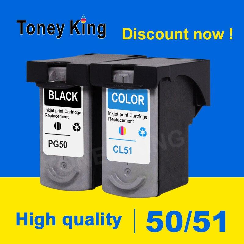 Toney Re PG50 Cartuccia di Inchiostro PG 50 CL51 CL 51 per canon IP2200 IP2400 MP150 MP160 MP170 MP180 MP450 MP460 cartucce per stampanti