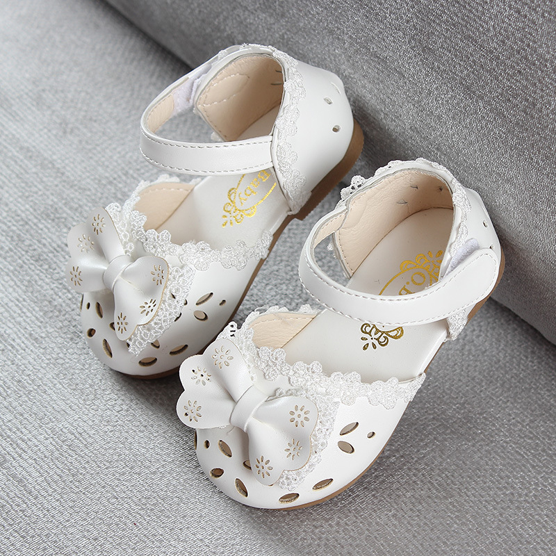 HTB16lcZIA9WBuNjSspeq6yz5VXaY - Newest Summer Kids Shoes Fashion Leathers Sweet Children Sandals For Girls Toddler Baby Breathable Hoolow Out Bow Shoes