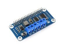 Waveshare Motor Driver HAT for Raspberry Pi Zero/Zero W/Zero WH/2B/3B/3B+, I2C Interface,Onboard PCA9685 chip
