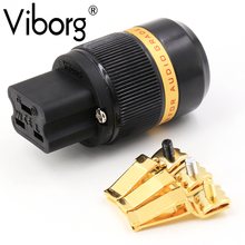 Viborg pure Copper 24k Gold Plated AC 20A IEC Female Power Plug Connector