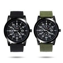 OTEX militar camuflagem montanhismo relógio cinto de lona dos homens ao ar livre à prova d' água relógios de quartzo movimento.