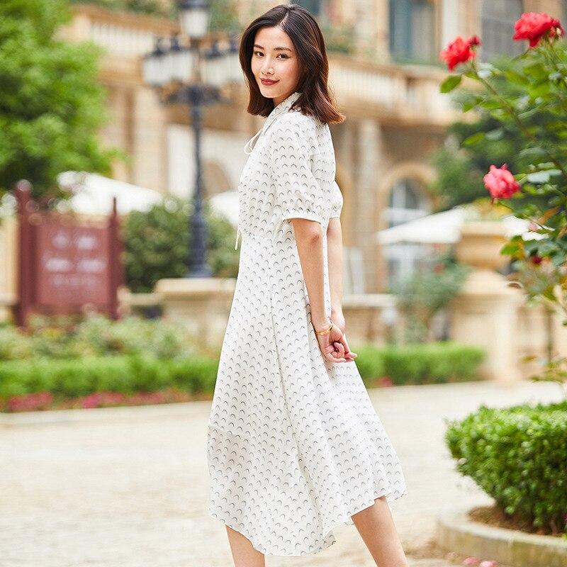 Robe en soie tournesol 2019 femmes robes d'été bohème plage grande taille maxi grande taille longue robe sexy blanc floral à manches courtes - 2