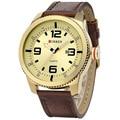 Top luxury brand Date display genuine leather strap quartz watch Gents Business curren 8180 Relojs De Marca Men's Wristwatches