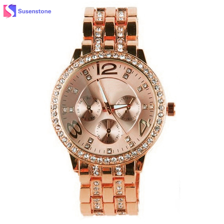 Top Luxury Brand Womens Stainless Steel Quartz Wrist Watches Women Elegant Fashion Rhinestone Ladies Watch New Bracelet Watches watches womens stainless steel bracelet watch new fashion luxury women quartz stainless steel strip wrist watch gift silver 2017