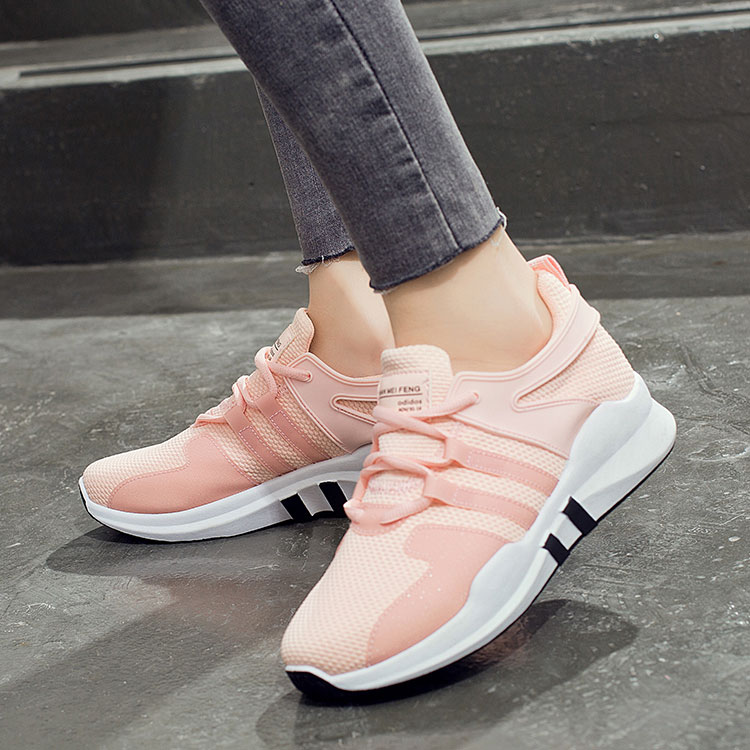 Women sneakers 2018 soft and comfortable women shoes sport new arriva lace-up breathable mesh women running shoes