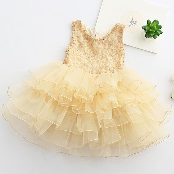 2017 New Heart Shape Open Back Big BOW Children Princess Dress Little Girls Vest Party Kids TUTU Mesh Formal