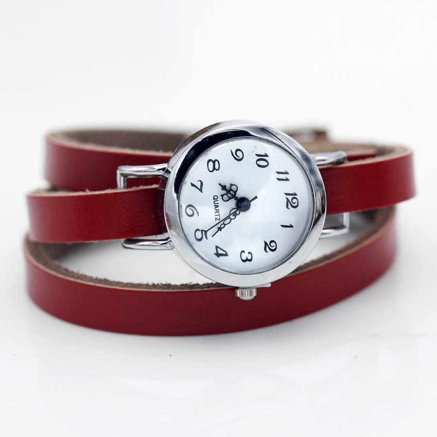 Shsby marca nueva moda caliente-Venta de cuerda larga de cuero genuino mujer plata reloj ROMA vintage reloj mujer vestido Relojes