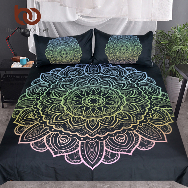 Beddingoutlet Mandala Bedding Set King Bohemian Duvet Cover With