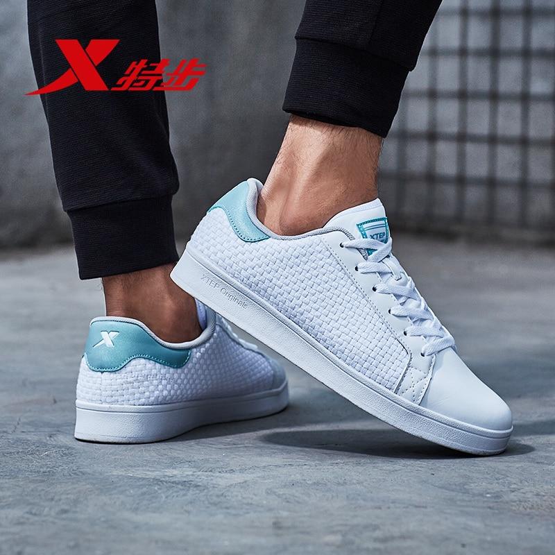 982119319190 XTEP New Classic Shell Head Men's Women Sport Casual White Black Skateboarding Shoes