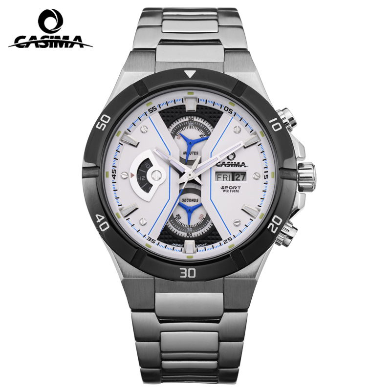 Luxury Brand CASIMA Sport Men Watches montre Casual Stainless Steel Military Men Quartz Watch Waterproof 100m Reloj Hombre