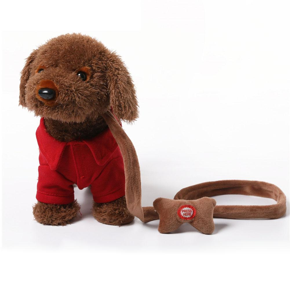 None Cute Electric Plush Dog With Music Function Kids Recognition Educational Toy Walking Teddy Poodle