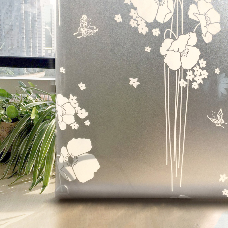 Cottoncolors home flower decorative window films cover no glue 3d static window privacy glass sticker size 90 x 200cm in decorative films from home garden