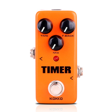 KOKKO Timer Delay Guitar Effect Pedal Alta Calidad Portatil Guitar Parts With True Bypass Guitar Pedal Guitar Accessories FDD2 kokko kw 1 guitarra pedal high quality guitar accessories vol wah guitar pedal for guitar lovers