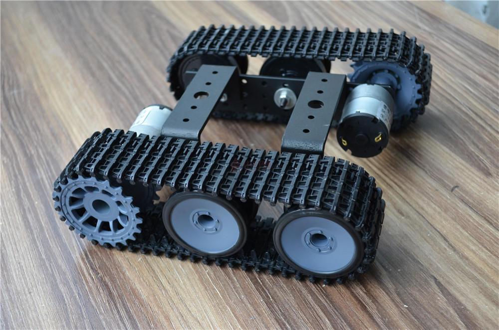 Mini Liga de Alumínio Chassis Robô Tanque TP100 Plataforma Lagarta com 12 v Motor Desmontado Kit DIY para Arduino