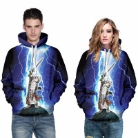 New Arrival Adult's Full Sleeves Sweater Magic Lightning Knight Cat Printing Hoodies Coat Top Outwear Costume