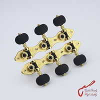 1Set High Quality GuitarFamily Classical Guitar Machine Heads Tuners Gear Ratio 1 16 Gold MADE IN