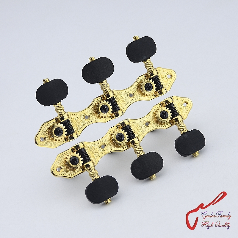 1Set High Quality GuitarFamily Classical Guitar  Machine Heads Tuners  Gear ratio - 1:16  Gold  MADE IN TAIWAN купить