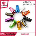 20Pcs D1 Spec Performance Racing Wheel Lug Nuts Screw M12x1.5/1.25 Length 50mm Aluminum Universal RS-LN007
