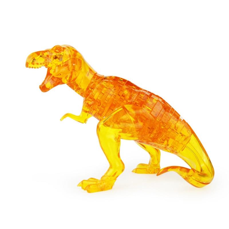 Funny Crystal Dinosaur Educational Leker DIY 3D Puzzle High Quality - Puslespill - Bilde 1