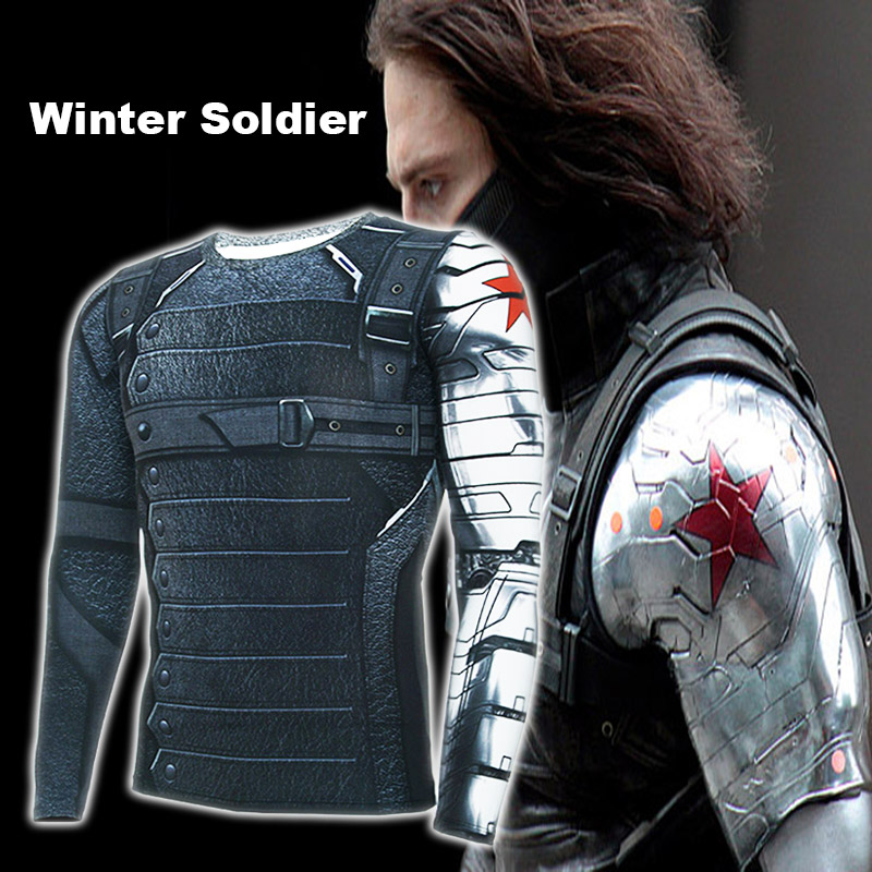 Christmas Captain America Winter Soldier Avengers 3 Compressie - Herenkleding