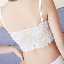 Sexy Young Girl Lace Bralette Bra Women Floral Cami Padded Tank Tops Beauty Lady Back Strap Vest Top Brassiere